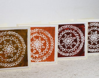Lino Print Blank Occasion Cards Set of 5