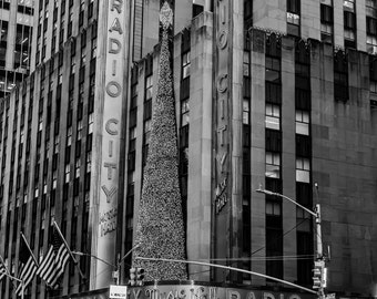 Instant Digital Download Printable Fine Art Black and White Radio City Music Hall New York