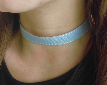 Grey Gray Choker Necklace, Gift for Her Choker, Jewelry Necklace Choker Gift Women, Boho Jewelry for Wife, Choker Gift for Women