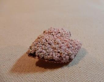 Hand Sewn Embroidered Sakura Petal Pin/Brooch