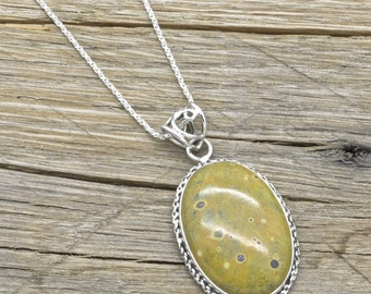 """Sterling Silver Atlantisite Pendant 925 Jewelry With 20"""" Chain"""