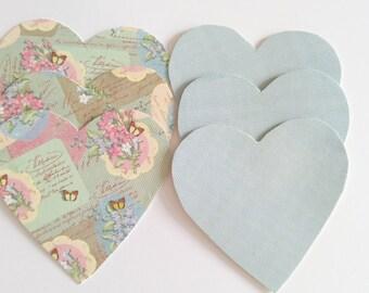 Handmade heart shaped gift tags or card making embellishments