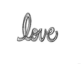 Love Digital Download Ink