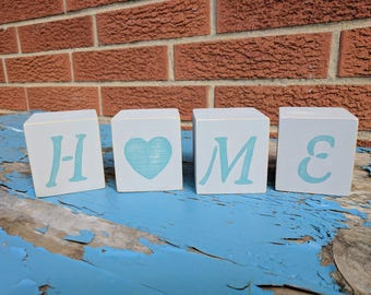 Home Blocks // Rustic Home Blocks // Distressed Home Blocks // Wedding Gift // Housewarming Gift // Home Sign // Home Decor // Wood Blocks