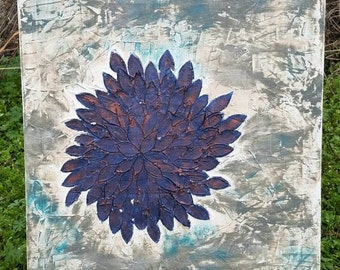 Textured painting, Flower Painting, Abstract