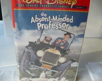 Disney Classic Absent Minded Professor VHS, Disney Comedy, VHS Movie, Walt Disney