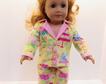 "American Girl and Other 18"" Doll Pajamas ""Sweet Dreams"""