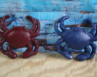 "Cast Iron Crab Paperweight 3.5"" long x 3.5"" wide  Lot of 2"