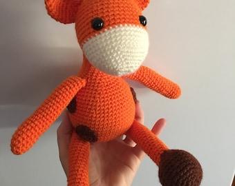 Crochet giraffe, amigurumi giraffe, toy giraffe, plush giraffe, giraffe,nursery decor, baby gift