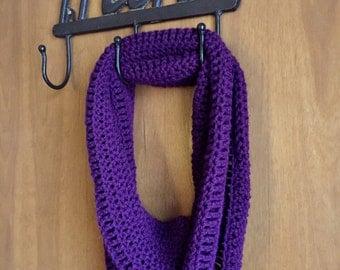 Plum Infinity Scarf, crochet infinity scarf, crochet scarf, crochet cowl, scarf, cowl