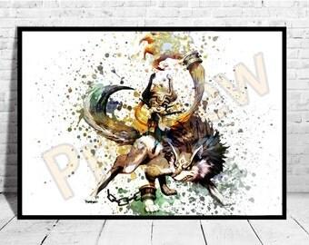 Princess Midna Poster, Zelda inspired Print, Game Art, The legend of Zelda, Zelda Poster,AG158