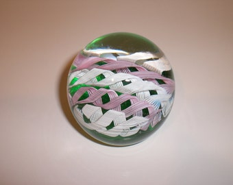 Murano art glass paperweight with Fratelli Toso label