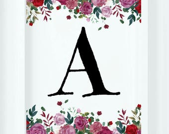 Floral Letter Decor| Name Art
