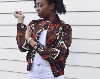 Bomber jacket, Bombadier Ankara African print