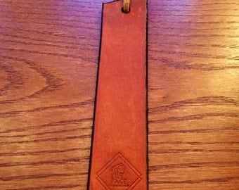 Salvaged Leather Bookmark