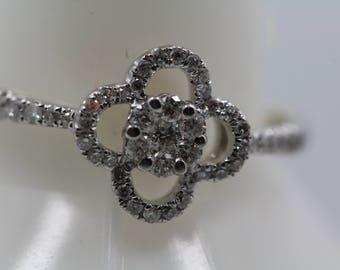 4 Leaf Diamond Ring