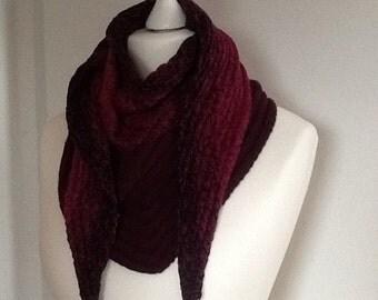 V-shape shoulder scarf, scarf, shawl