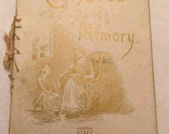 Victorian Era Poetry Booklet Chords Of Memory 1800's Art Lithographic Publishing
