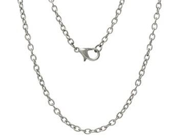 Chain, chain, chain, 62 cm, silver
