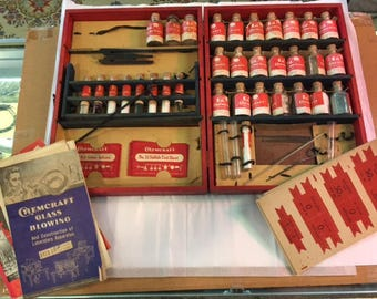 1940's childs chemistry set