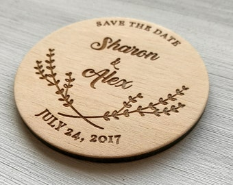 Wedding Announcement. Save the Date Magnet. Wedding Magnets. Wood Save the Date. Custom Magnets. Rustic Wedding. Wooden Wedding Invintation