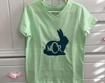 Monogrammed spring bunny
