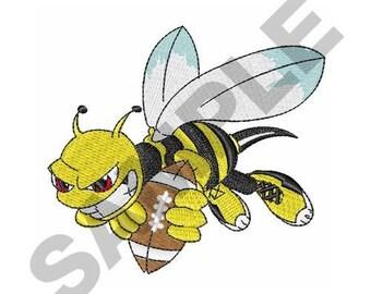 Yellow Jacket Hornet - Machine Embroidery Design