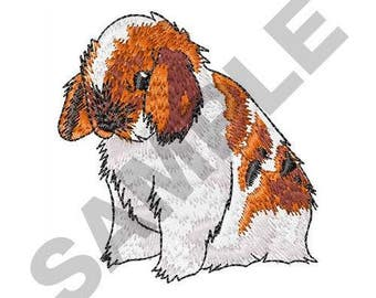 Holland Lop Ear Rabbit - Machine Embroidery Design