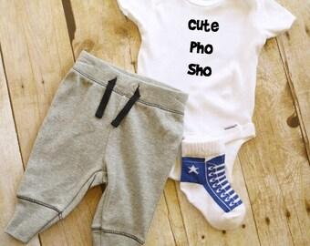 Cute Pho Sho Baby Onesie // Pho  Onesie  // Baby Onesie // Funny Baby shirt // Funny Baby Onesie