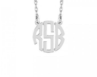 Mini Block Monogram Necklace