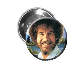 "Bob Ross - Pinback Button/Badge (1.25"")"