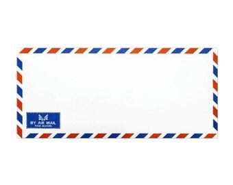 Set of 25 Vintage Airmail Envelopes