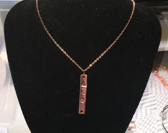 """Rose Gold Greek """"Delta"""" necklace"""