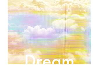 Displays Dream cloud dream yellow poster