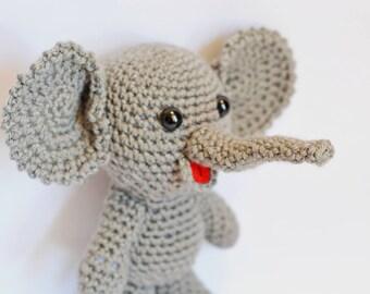 Crochet Elephant, Amigurumi Elephant, Elephant Stuffed Animal, Stuffed Elephant