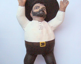 mexican people paper mache figurines