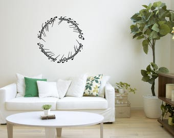Lord Of The Rings Elvish Circle I Love You Wall Art Decal Sticker Mural, Wall Decoration, Wall Picture, Home Decoration, Illustration #38