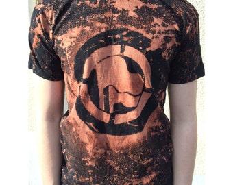 ANTIFA diy punk t-shirt tie dye