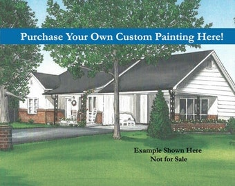 Order Your Custom Home Painted Portrait Here!  House Portraits, Anniversary, House Warming, New Home, Real Estate Closing, Unique Gift