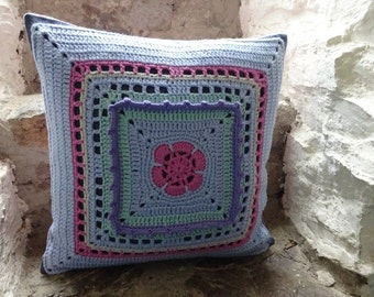 Granny square Cushion cover, 35x35cm