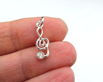 One Cleft Note Charm, Music Charm, Note Charm