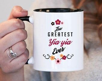 The Greatest YiaYia Ever YiaYia Gift, Yia Yia Birthday, YiaYia Mug, YiaYia Gift Idea, Baby Shower, Mothers Day , yiayia gift , yiayia