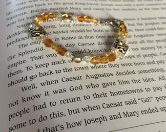 Beaded hand made bracelet