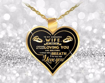 breath heart pendant necklace for wifes- best gifts for wifes