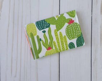 Cacti wallet, cardholder, women's wallet, card protector, cactus, gifts under 20