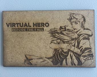 "Elrubius ""Virtual Hero"" box woodcut 150 x 120"