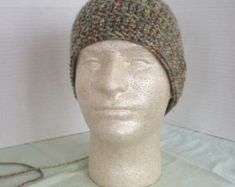 Homemade Lodge Forest Wool Yarn Skull Cap