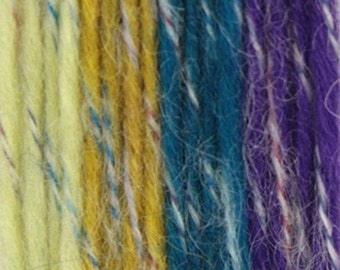 Wool Mohair Yarn 2 x  100g/Skeins Color: Tropical (Yellow Blue Purple)