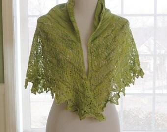 Hand Knit Summer Shawlette