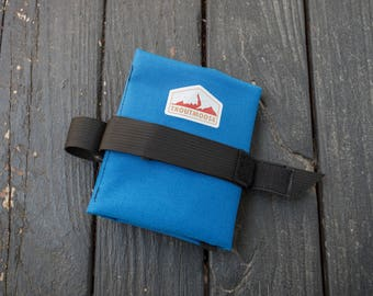 Bicycle Tool Roll for Saddle Rails - Royal Blue